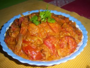 Spicy Tomato Onion Curry for rice